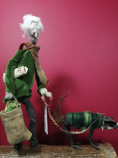 old man and dog textile sculpture.jpg