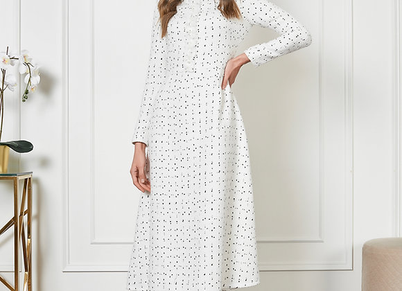 Твидовое платье белое