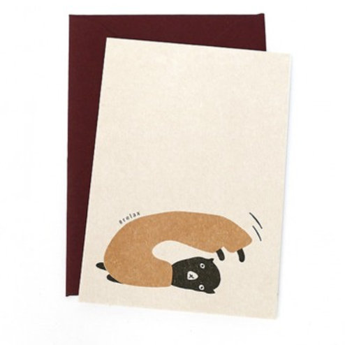 Giftcards (7,5x10,5cm) - Yogacats Relax