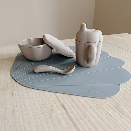 Silicone Clam Set - Warm Grey