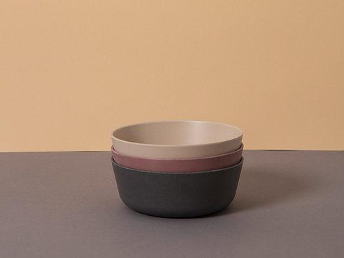 Bamboo Bowl (3 pack) Fog/Beet/Ocean