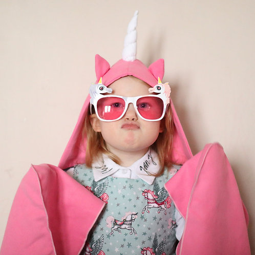 Autonomy hooded towel Unicorn Mini Pink