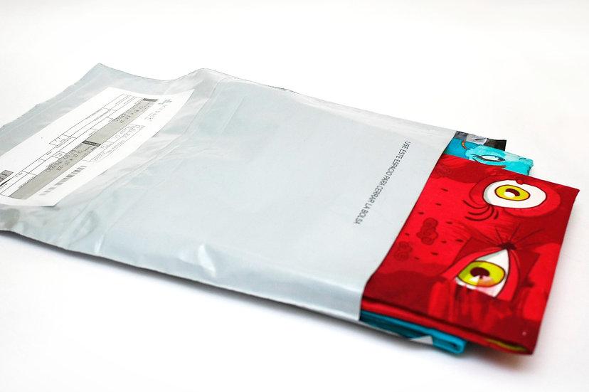 BOLSAS DE MENSAJERIA 28X38/Tamaño Oficio. Paquete por 100 unidades con IVA