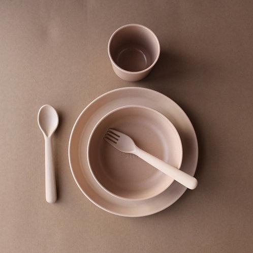 Bamboo Dinnerware Set Toddler - Rye