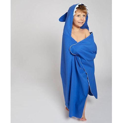 Autonomy hooded towel Shark Mini Dark Blue