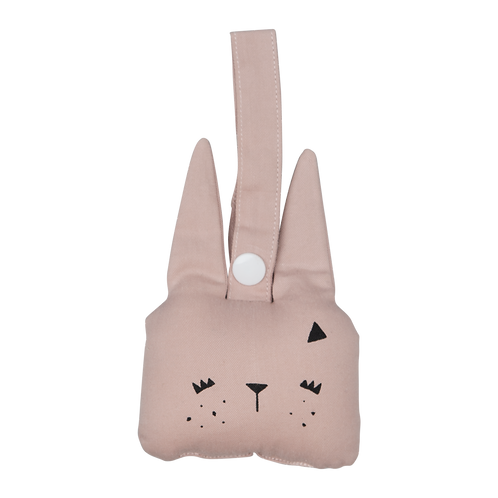 Animal Rattle- Bunny- Mauve