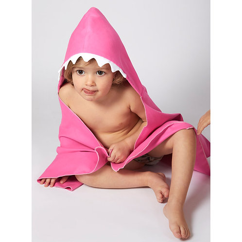 Autonomy hooded towel Shark Mini Pink