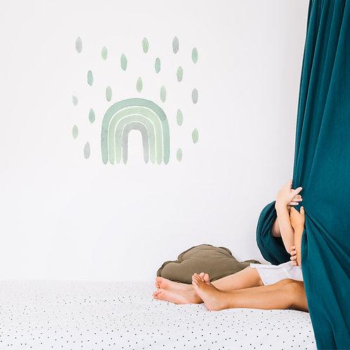 Watercolor rainbow Wall sticker - Green