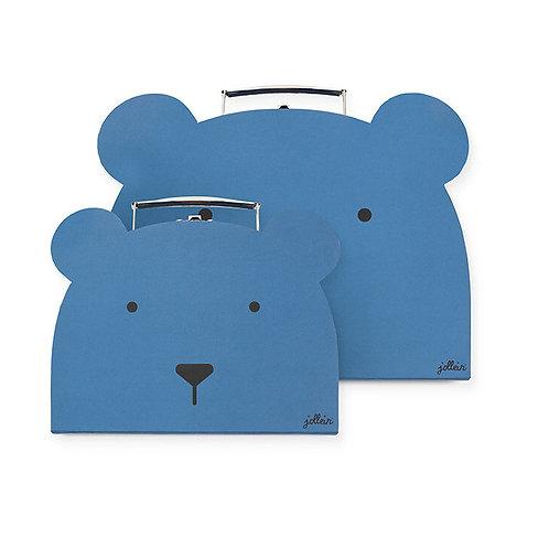 Toys suitcase Animal club steel blue (2 pack)