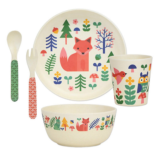 Eco-Friendly Bamboo Dinnerware set - Forest