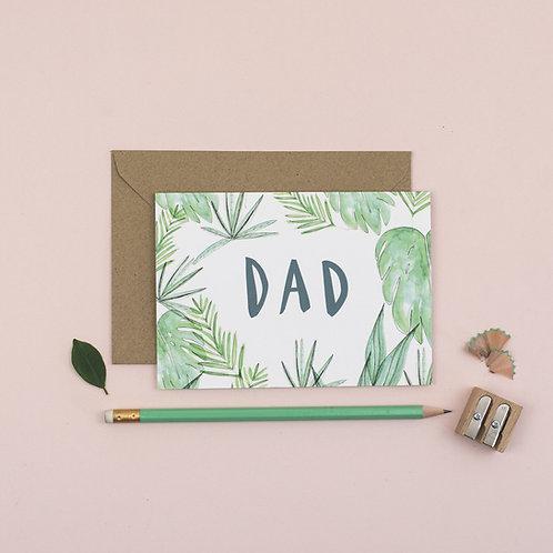 Botanical Dad greetings card