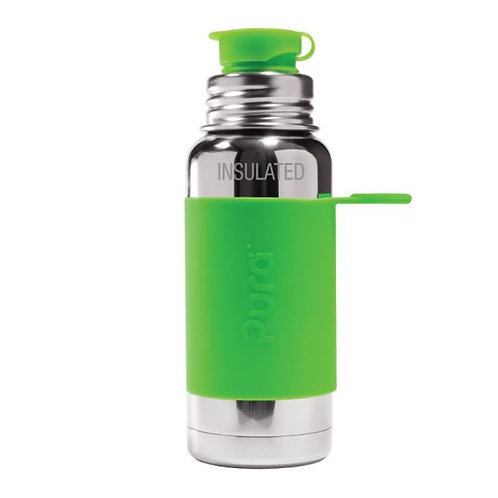 BIG MOUTH™ Sport 475ml Vacuum Insulated Bottle with Sleeve - green