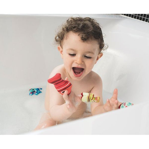 Fabric Bath Toy Fish- Finger puppets