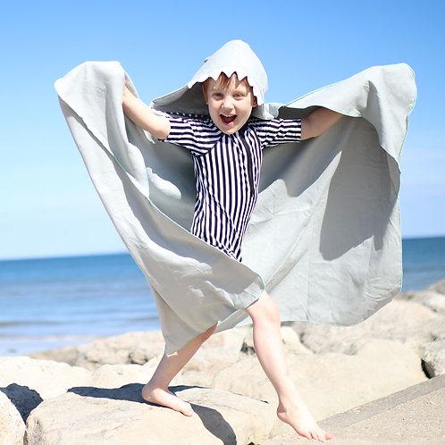 Autonomy hooded towel Shark Maxi Grey