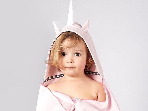 Autonomy hooded towel Unicorn Maxi Light Pink