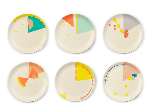 Set 6x cake plate Print