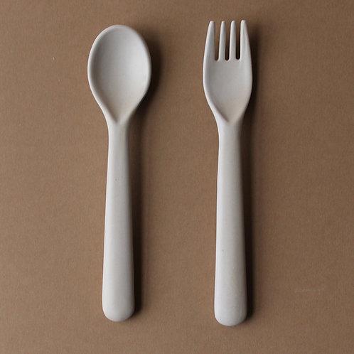 Bamboo Cutlery Set - Fog