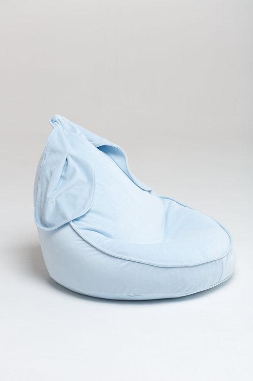 Bunny Velvet Beanbag blue