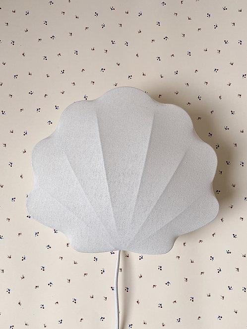 Clam Fabric Lamp - Off White