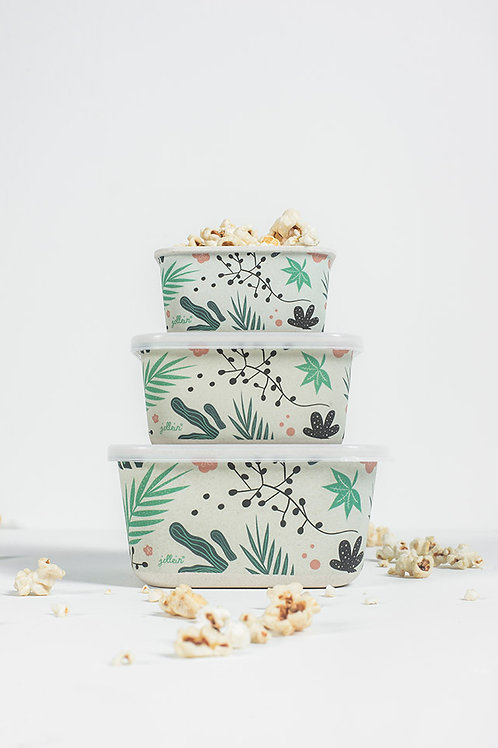 Snackbox bamboo Leaves (3 pieces)