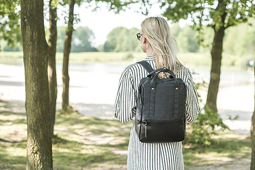 Diaper bag backpack Sascha dark grey