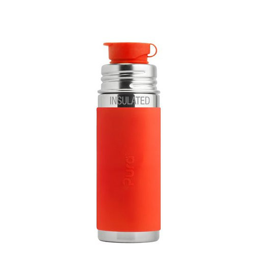 Pura Sport Mini™ 260ml Vacuum Insulated Bottle with Sleeve orange