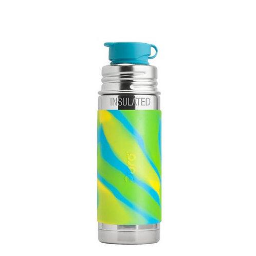 Pura Sport Mini™ 260ml Vacuum Insulated Bottle with Sleeve aquaswirl
