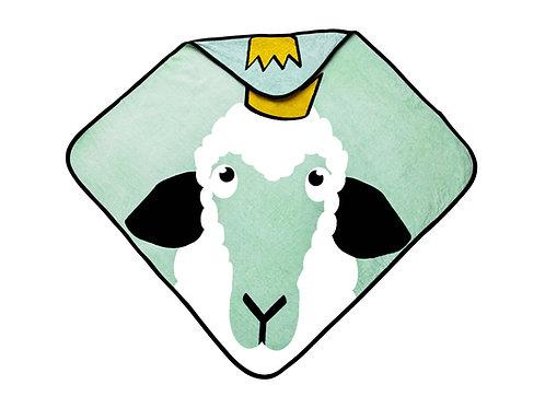 Hooded Towel - Sheep green