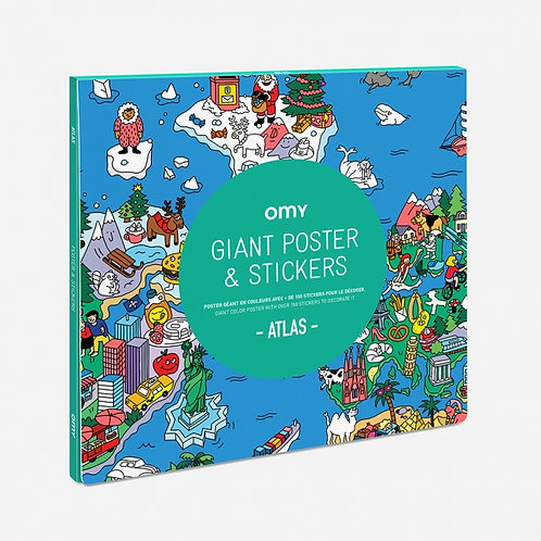 Giant Poster & Stickers - Atlas