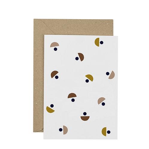 Moon greetings card