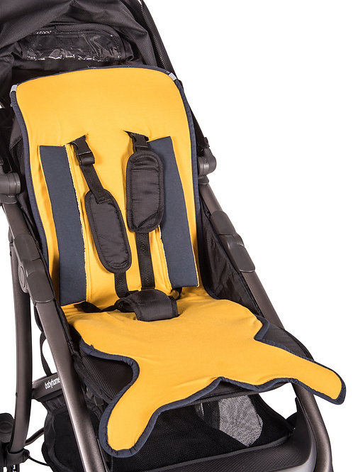Mustard Fish tail stroller pad
