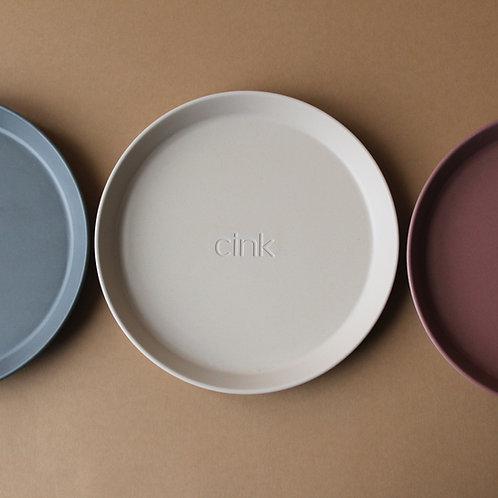 Bamboo Plate (3 pack) Fog/Beet/Ocean