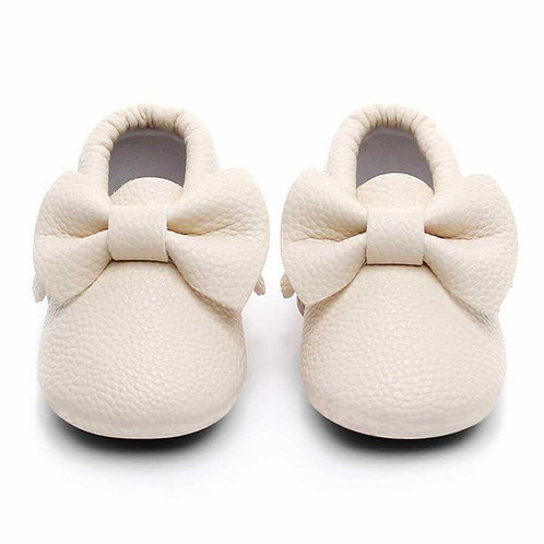Bow Shoes - Off White 6-12 months