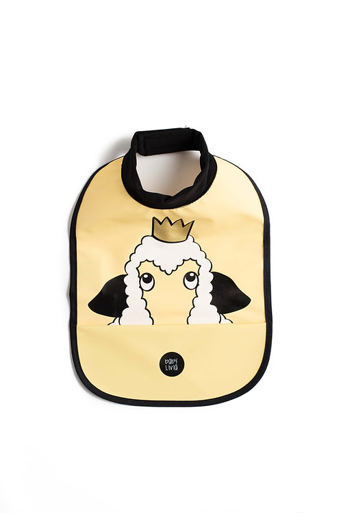 High neck bib - Sheep yellow