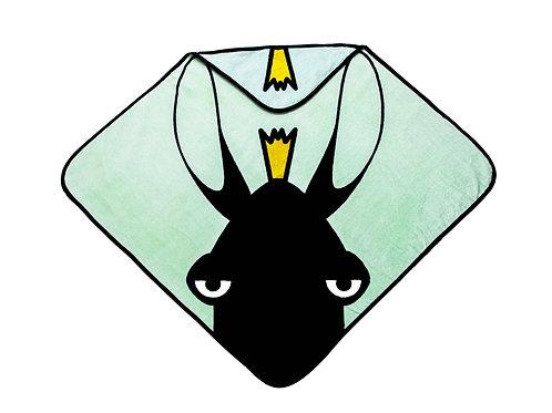 Hooded Towel - Moose green