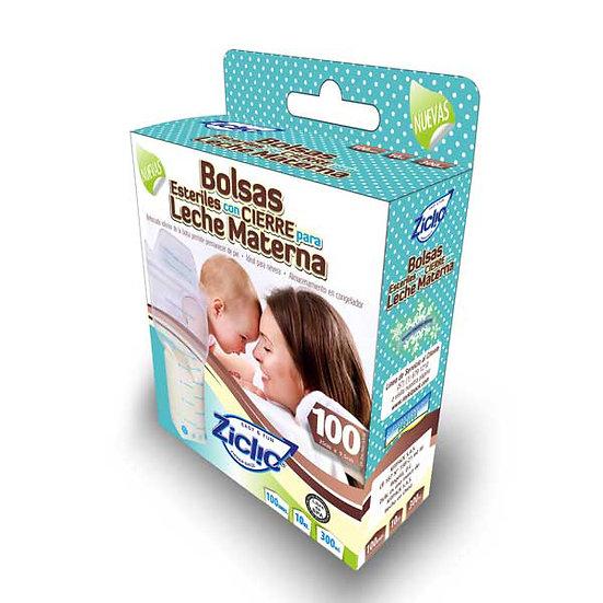 Bolsas para leche materna 10 Onzas.  Caja por 100 unidades con IVA