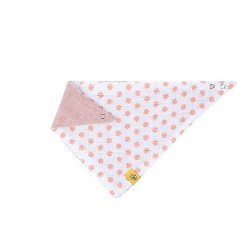 Muslin Bandana Little Chums Stars light pink
