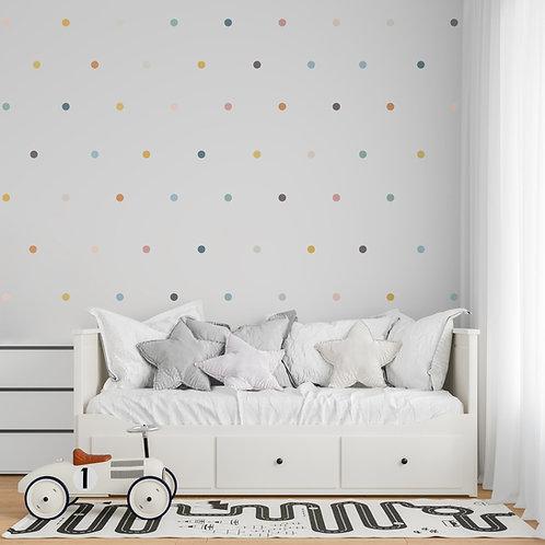 Vinyl sunset pastel polka dots