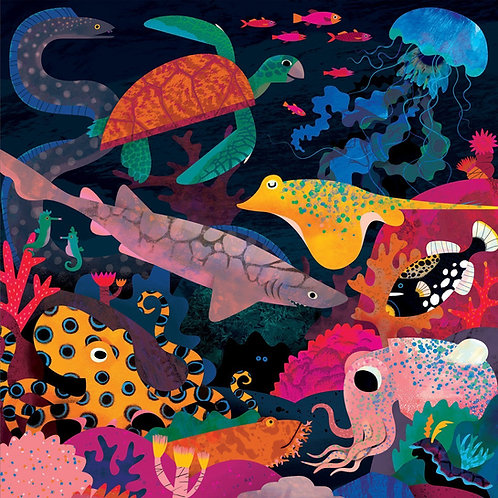 Ocean illuminated - glow in the dark family puzzle