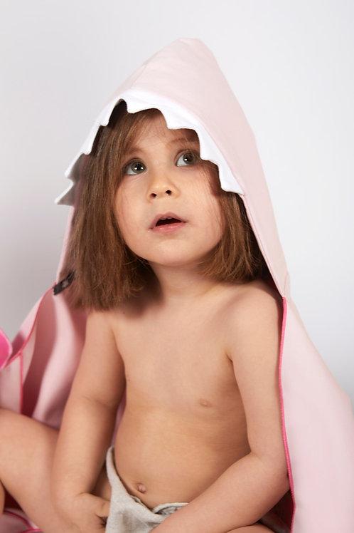 Autonomy hooded towel Shark Mini Light Pink