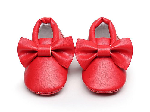 Bow Shoes - Red 3-6 months