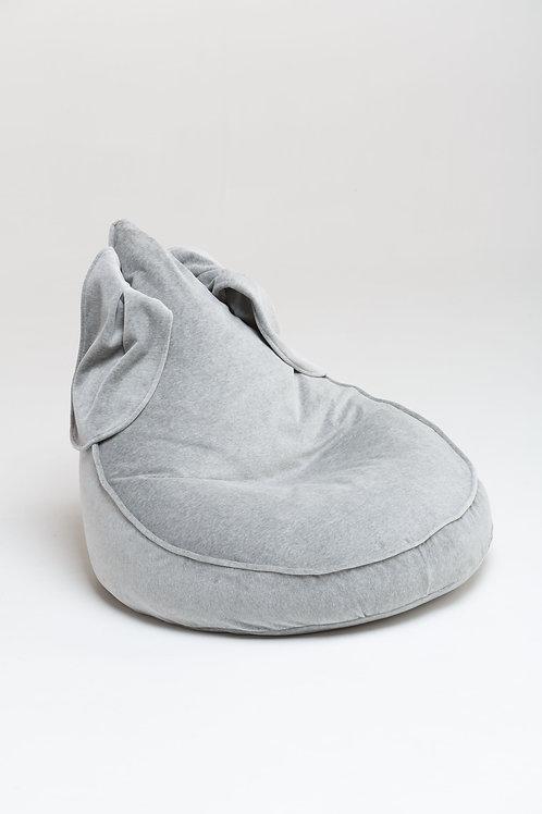 Bunny Velvet Beanbag grey