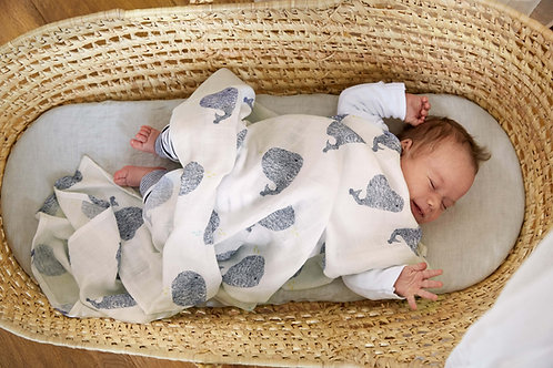 Heavenly soft Swaddle XL, Little Water Whale