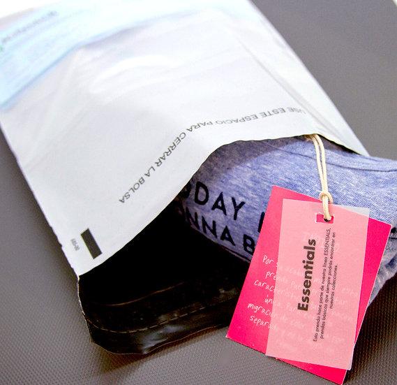 BOLSAS DE MENSAJERIA 18X29/Tamaño Media Carta.  Paquete por 100 unidades con IVA