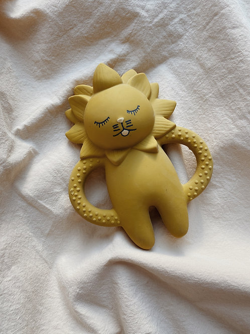 Teether Soother Lion - Mustard