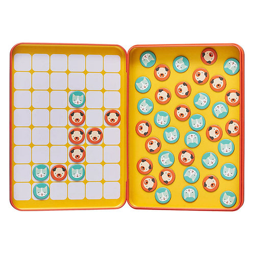 Magnetic Travel Game - Cats & Dogs 4 in a Row