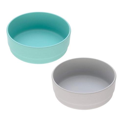 Bowl Set Bamboo (2 pc), turquoise - grey