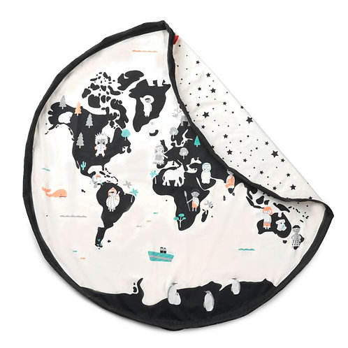Worldmap / stars toy storage bag