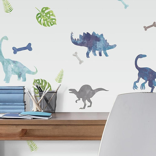 Watercolor Dinosaurs Wall Decals