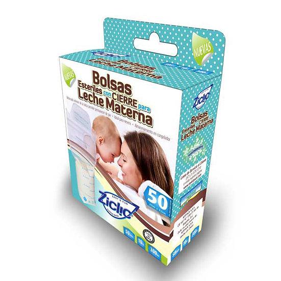 Bolsas para leche materna 10 Onzas.  Caja por 50 unidades con IVA